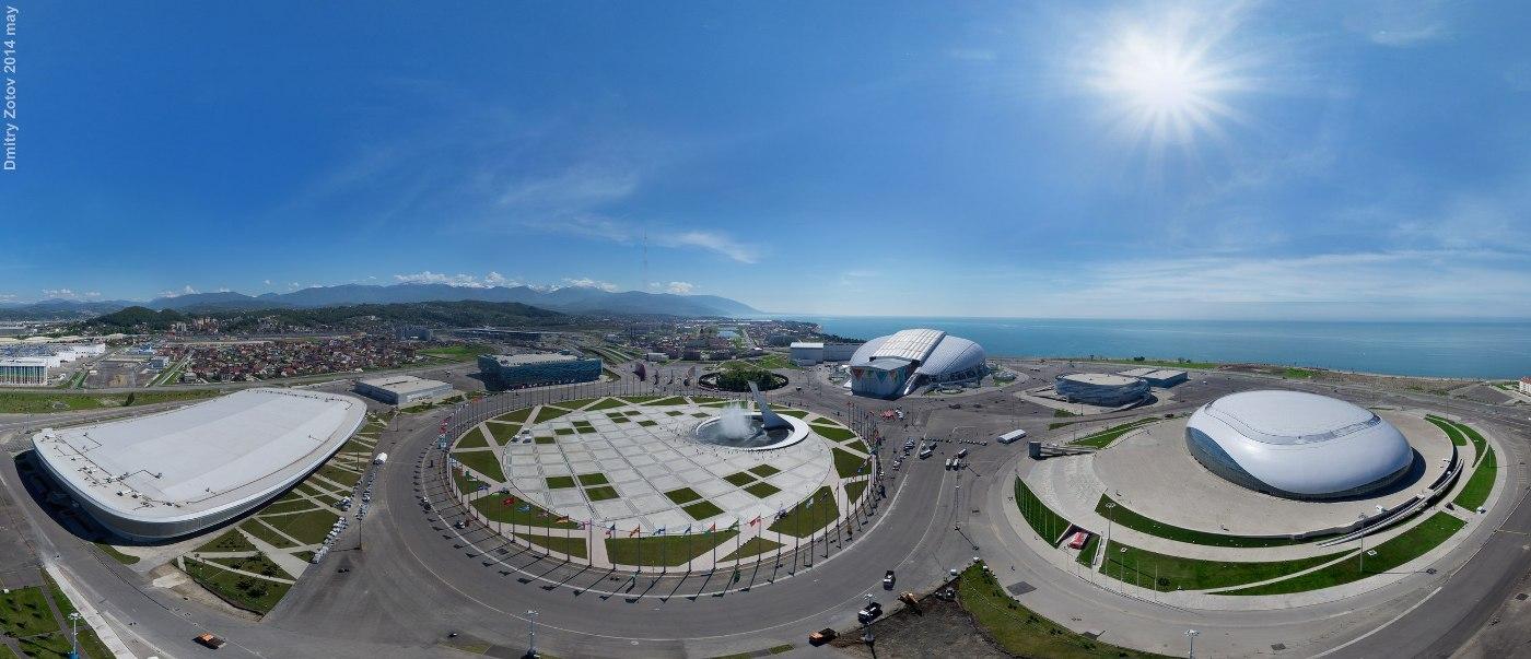 Олимпийский парк с высоты птичьего полёта