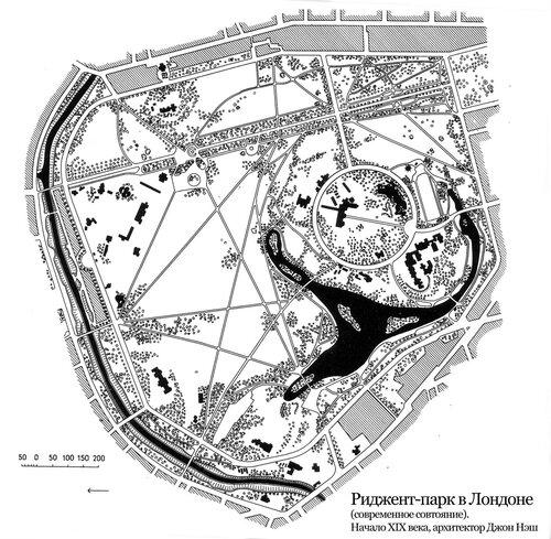 Риджент-парк, план