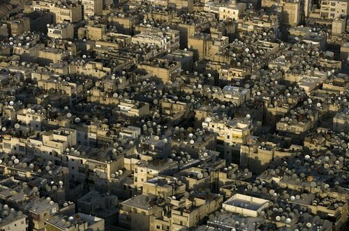 Спутниковые тарелки в Алеппо. Сирия