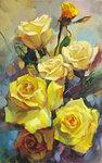 """Розы  чайные"" х.м. 80-50 см. 2006г."