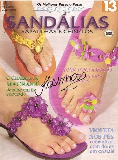 crafty jewelry for footh: sandalias sapatilhas e chinelos magazine