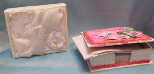 Коробочки для бумаг.