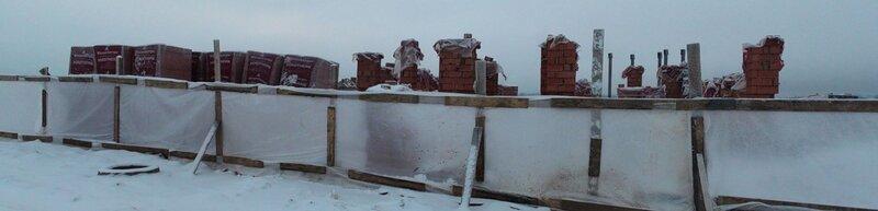 Панорамный вид стройки на участке №348