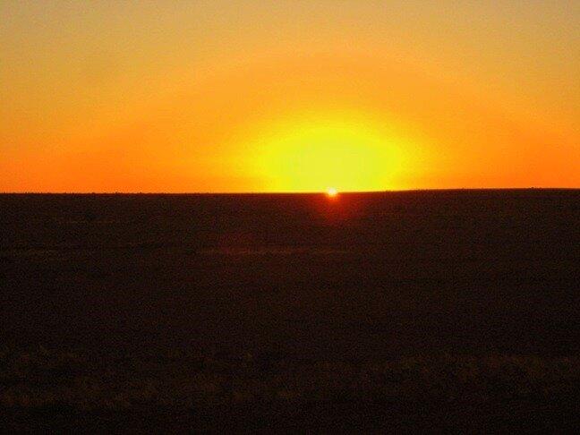 Восход Австралия пустыня луч