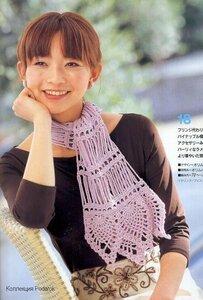 Описание: Шапки, Шарфы / Ажурный шарф крючком.