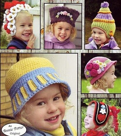 вязаные шапочки для девочки