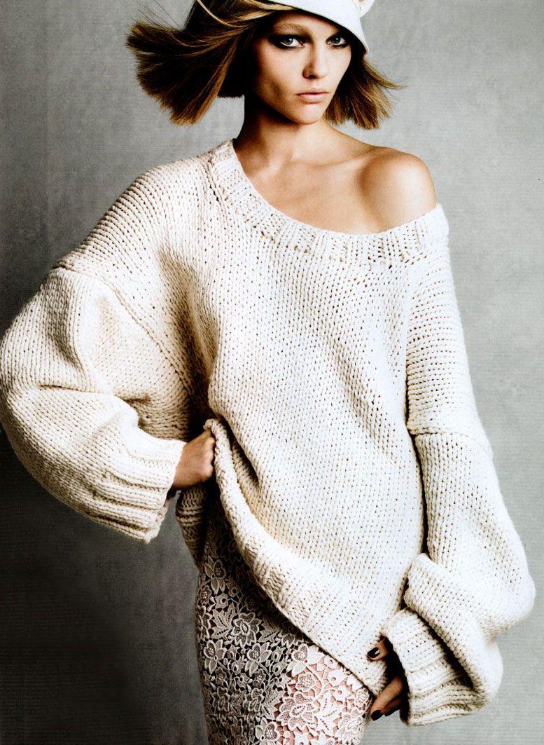 модель Саша Пивоварова / Sasha Pivovarova, фотограф Patrick Demarchelier