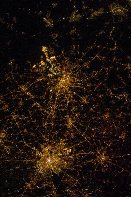 Брюссель и Антверпен, Бельгия. Ночью