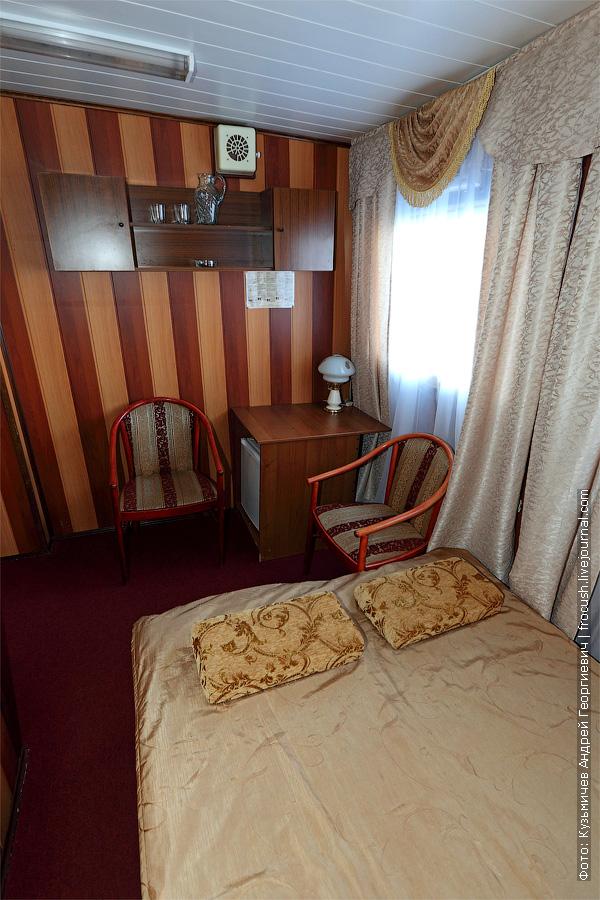 Двухместная каюта увеличенной площади с удобствами №19. Категория каюты А2+(I). Теплоход «Башкортостан»