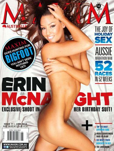 Erin McNaught / Эрин Макнаут на обложке Maxim Австралия, июнь 2012 / фотограф Wayne Daniels