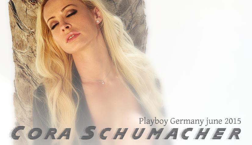 Модель и автогонщица Кора Шумахер / Cora Schumacher - Playboy Germany june 2015