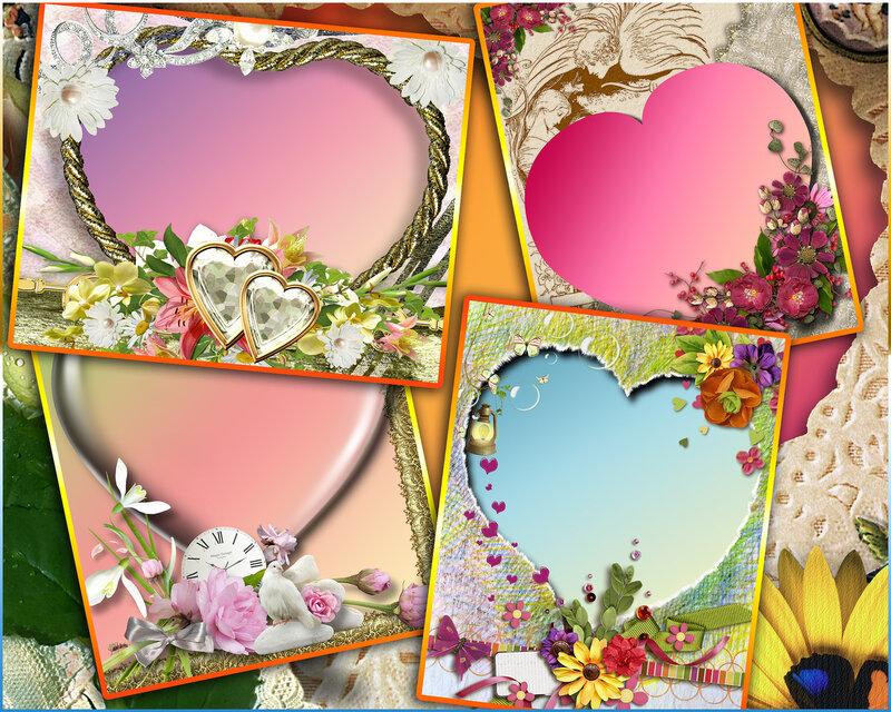 5 летних рамочек-сердечек