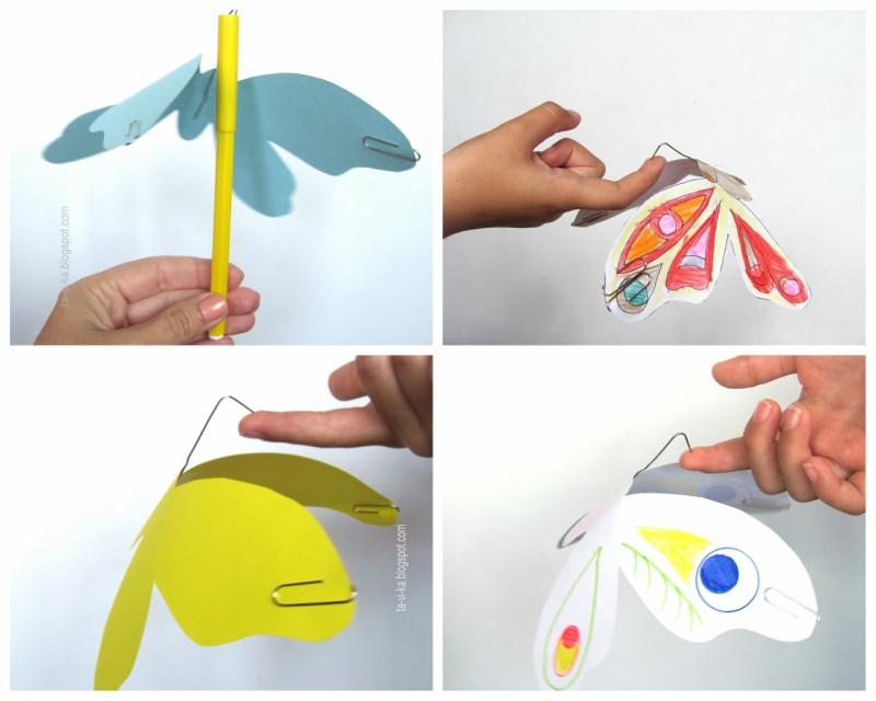 бабочки из бумаги - детская поделка