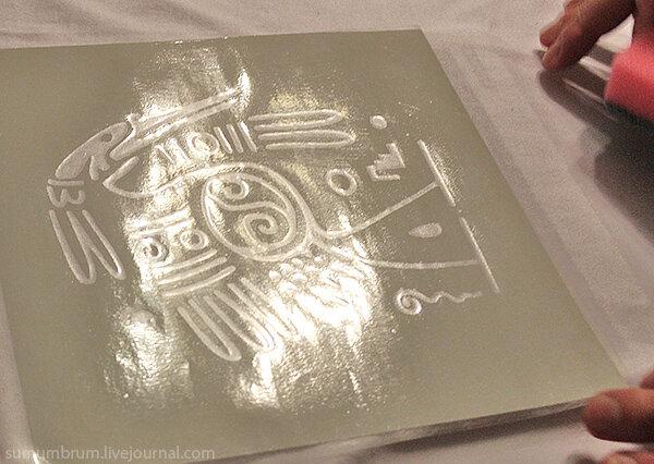 нанесение рисунка на ткань: