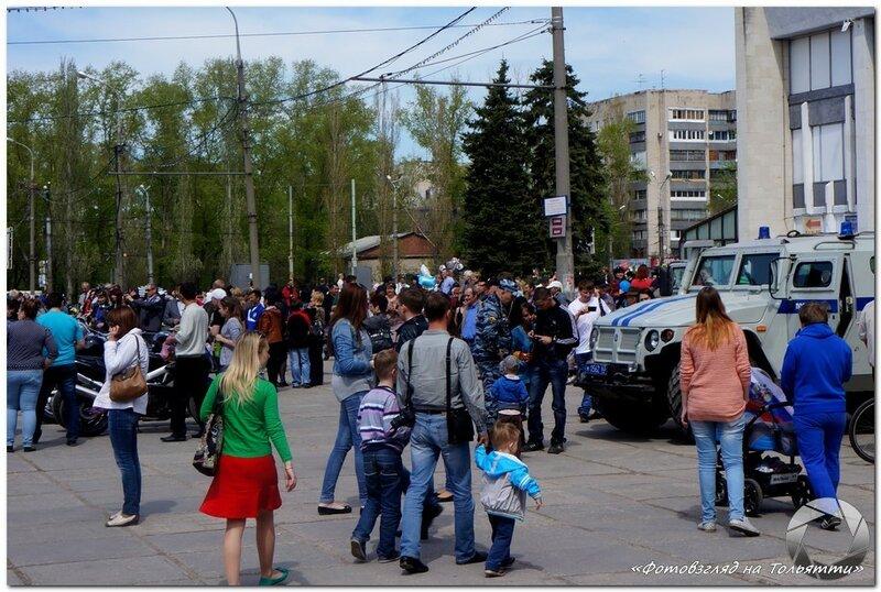 День Победы на Центральной площади Тольятти