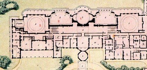 Королевский павильон в Брайтоне, план