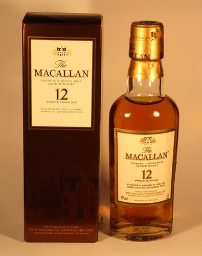 Виски The Macallan 12 Years Old Highland Single Malt Scotch Whisky