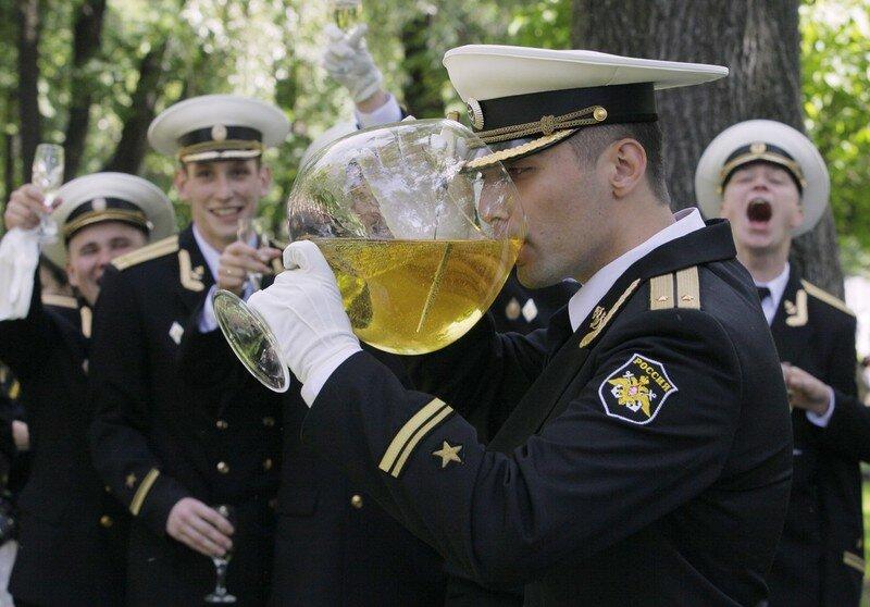 APTOPIX Russia Graduation