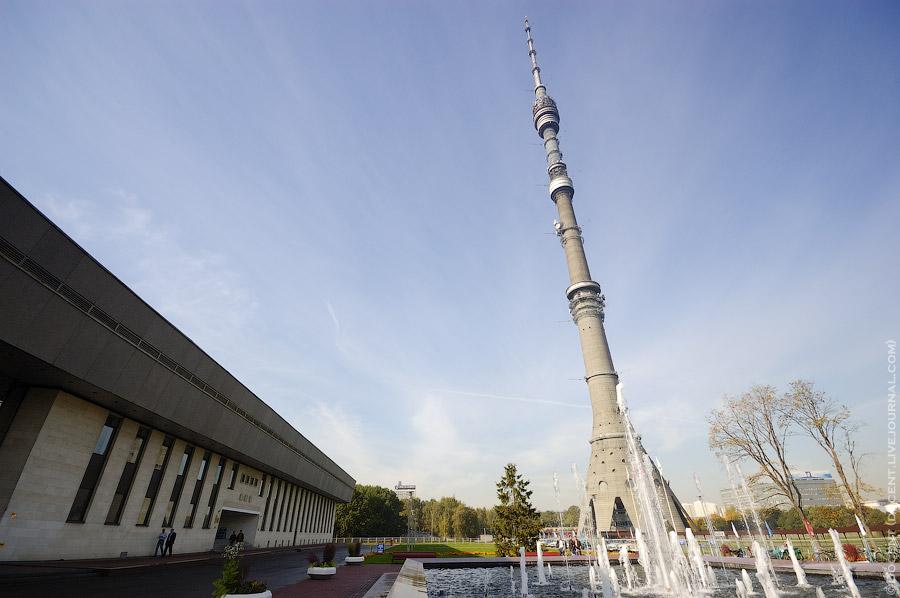 1. Башня такая высокая, что со ста метров едва влезает в объектив .