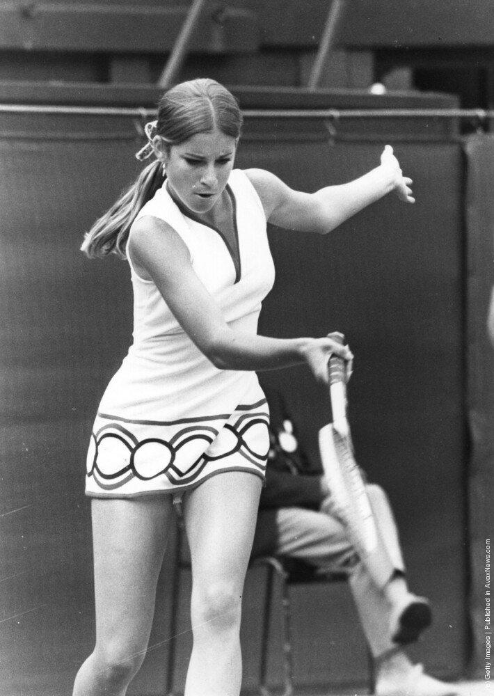 Американская теннисистка Chris Evert 1972