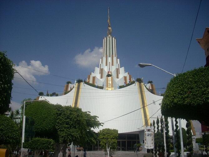Церковь La Luz de Mundo. Гвадалахара, Мексика