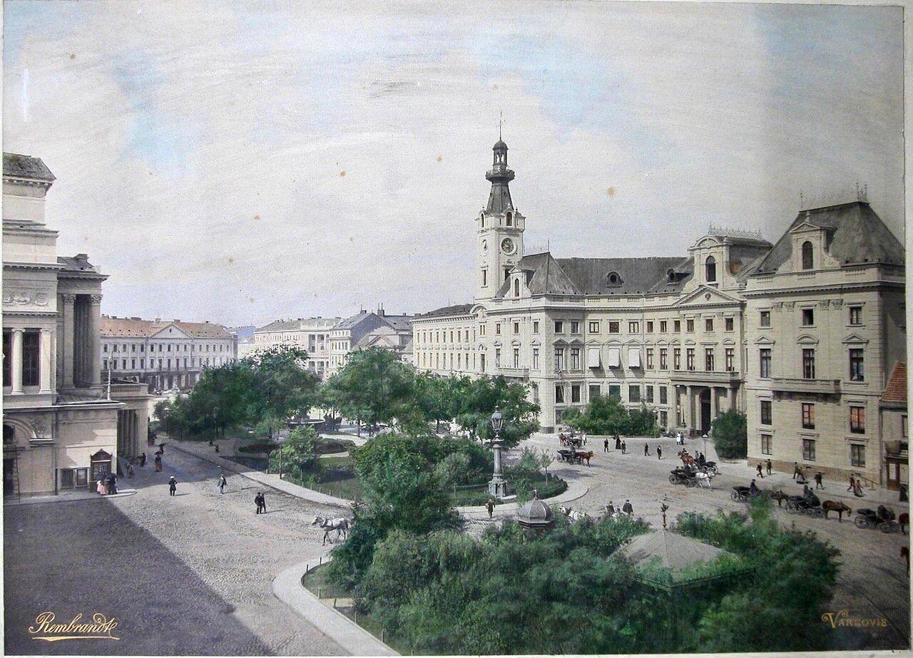 Вид на здание городской ратуши
