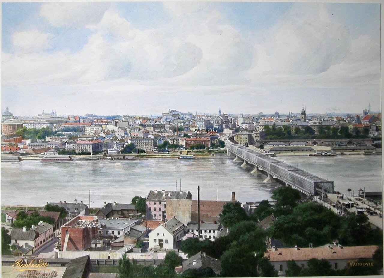 Общий вид города со стороны реки Вислы