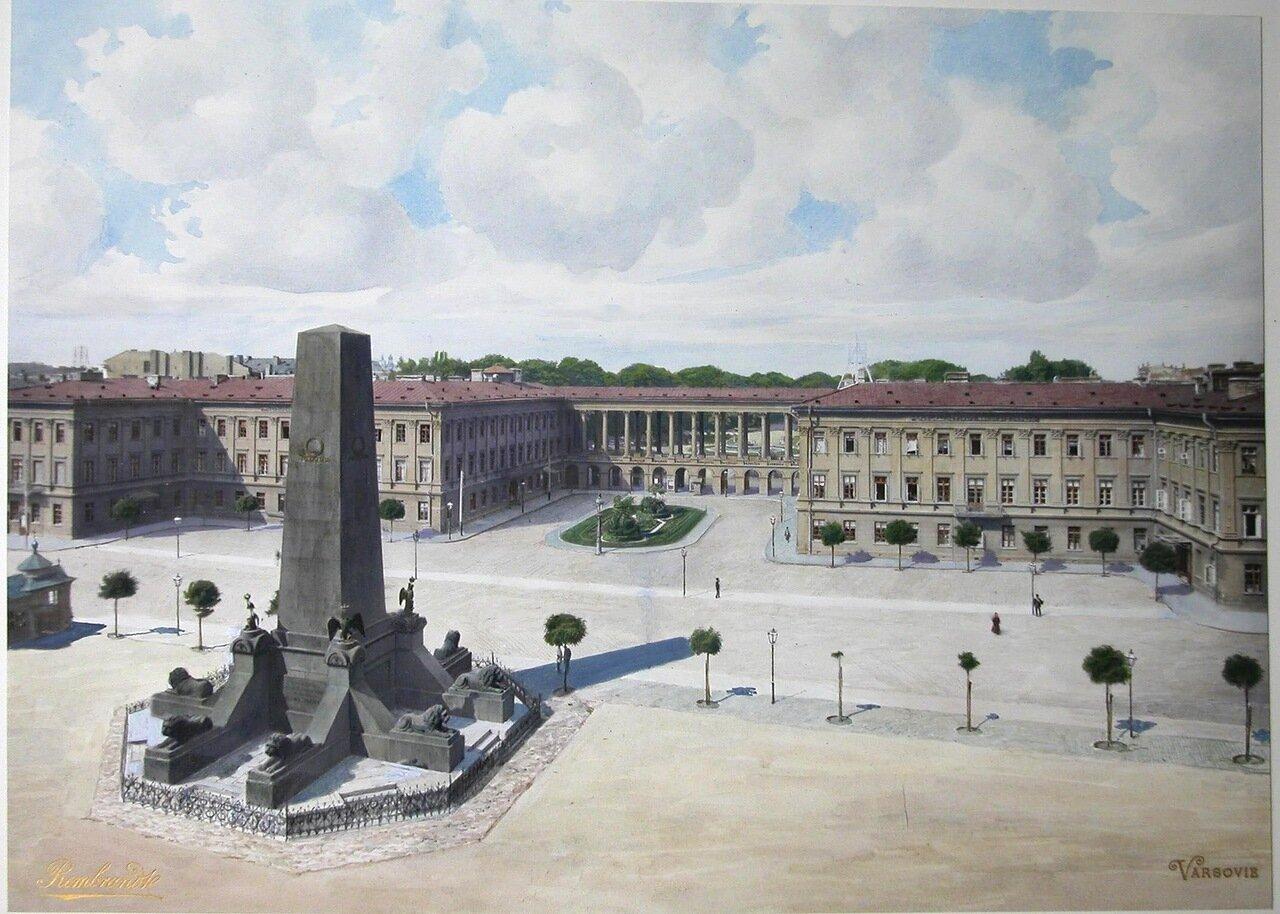 Общий вид Саксонской площади