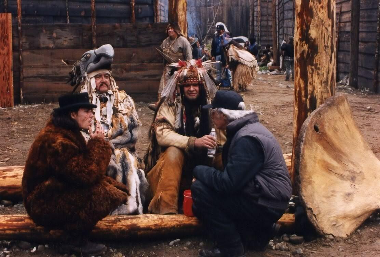1995. Джонни Дэпп и Джимми Джармуш на съемках «Мертвеца»