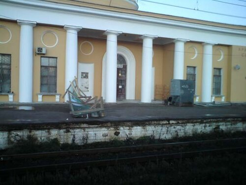 Упавший забор на платформе №1