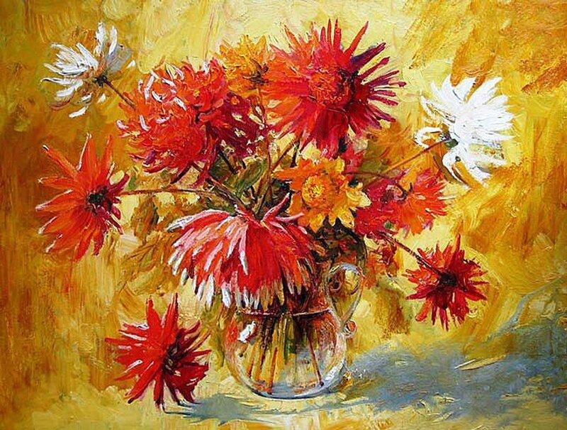 Осенние цветы георгины осенние цветы