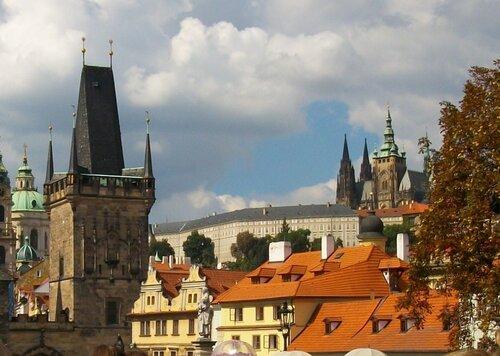 Прощальный взгляд на Пражский град.