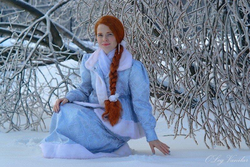 Фотографии рыжих девушек на фоне зимы