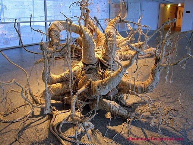 iron rope vale mea_culpa non_est Belem Portugal Lisbon CCB composition sculpture modern art