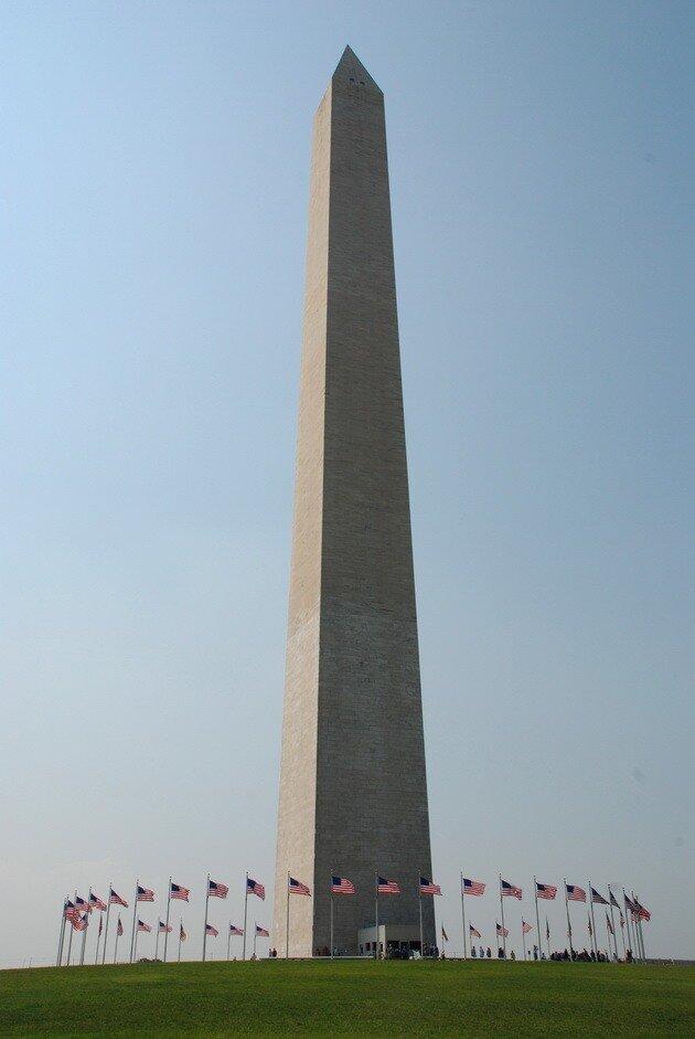 Монумент Вашингтона. Национальная аллея. Вашингтон.