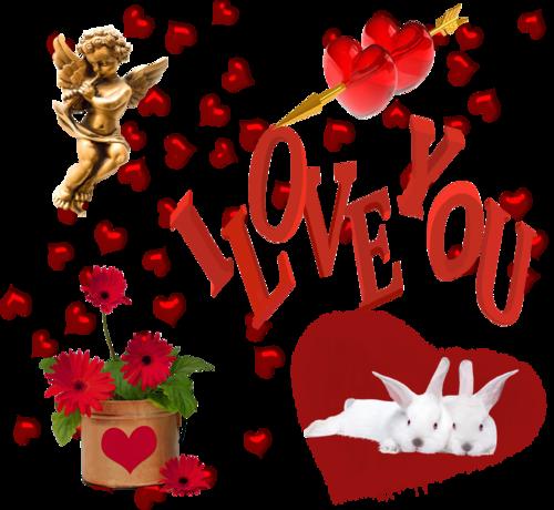 влюблённые кролики(основная картинка)