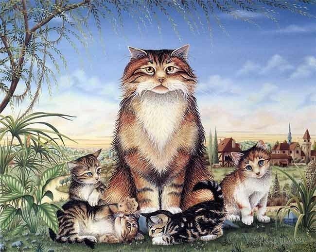 Кошки от Bernard Vercruyce