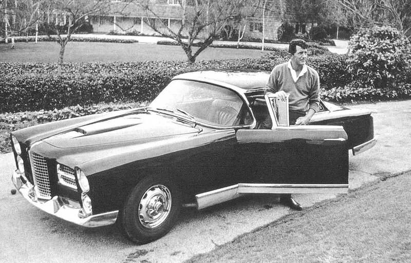 Dean Martin with a 1961 Facel Vega.