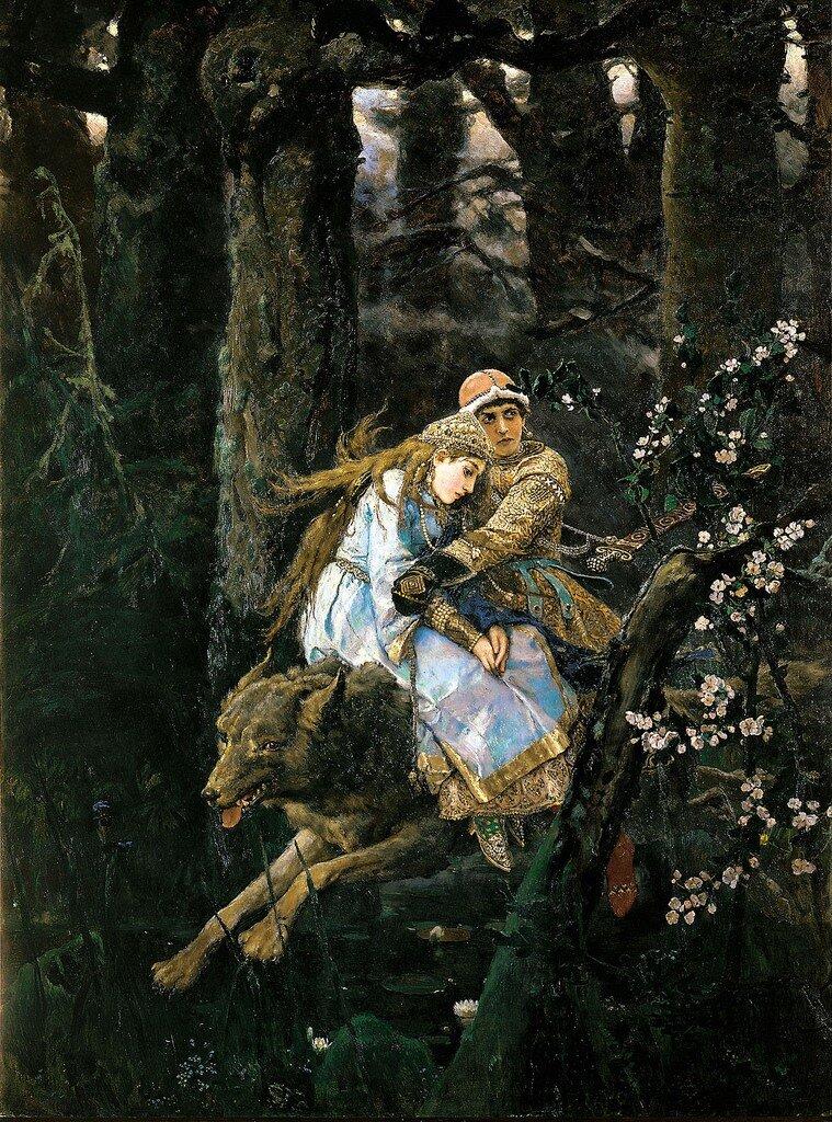 Tsarevich Ivan on the Gray Wolf  Viktor Vasnetsov