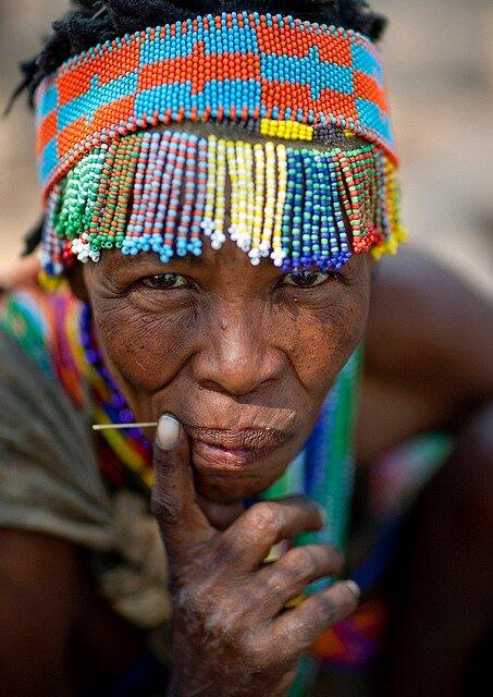 San bushman woman - Namibia
