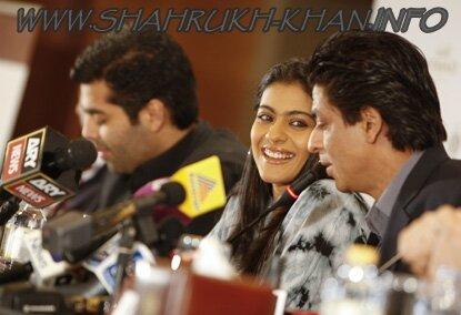 Shah Rukh Khan, Karan Johar & Kajol - Abu Dabi Press Conference MNIK 2010