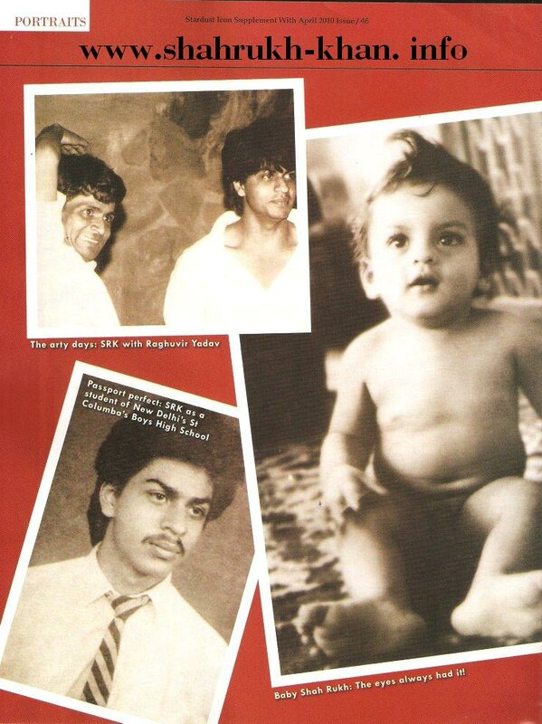 Stardust April 2010 - Shahrukh Khan's life (1)