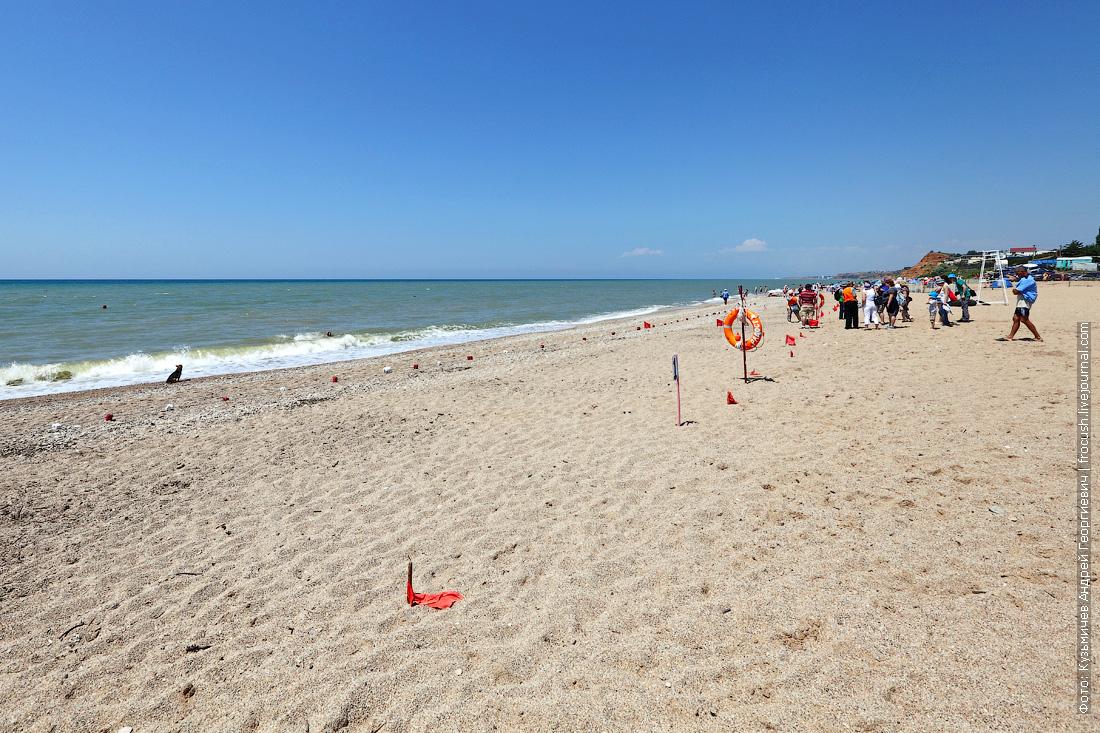 Крым ДОЛ Радость песчаный пляж