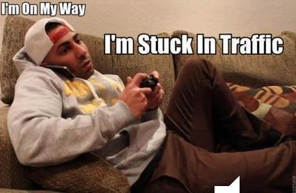 On my Way. Stuck in traffick.