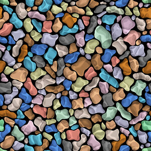 Colorful vector seamless texture of stones