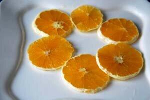 Апельсин кружочками для салата из капусты