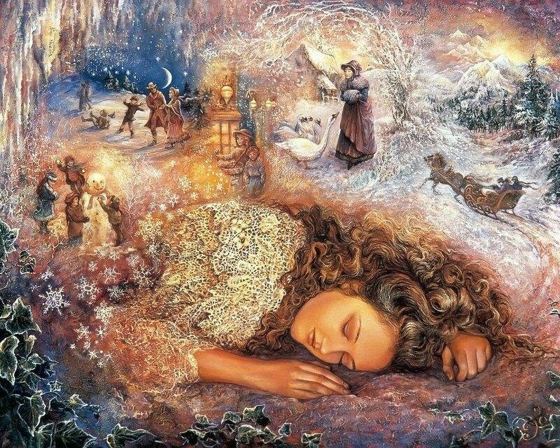 Josephine Wall. Зимние сновидения.jpg