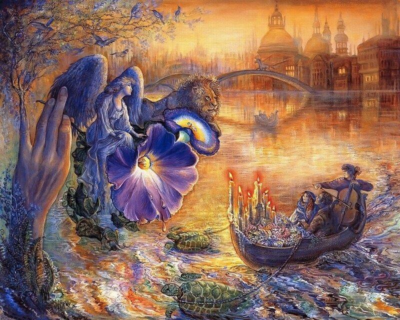 Josephine Wall. Романтика, сумерки, ангел.jpg