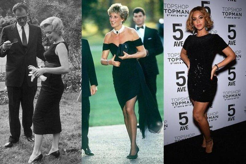 Эволюция маленького черного платья   фото знаменитых красоток разных годов