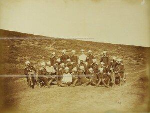 Группа офицеров Лейб-гвардии 2-го Стрелкового батальона.